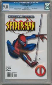 Ultimate Spider-man #1 White Retailer Incentive (2000) CGC 9.8 Brian Bendis Marvel comic book